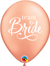 Team Bride Rose Gold Balloons 6 Pack